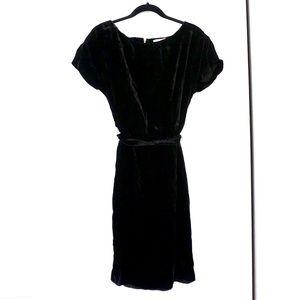Ann Taylor Loft Black Velvet Dress